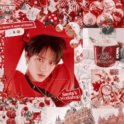 freetoedit nanacontestround2 kpop aesthetic txt red kpopaesthetic christmas beomgyu