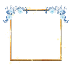 border flower gold freetoedit
