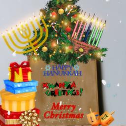 holidays hanukkah christmas. kwanzaa freetoedit christmas ircdesignthebag designthebag