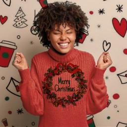 merrychristmas christmassweater freetoedit ircdesignyourdreamholidaysweater designyourdreamholidaysweater