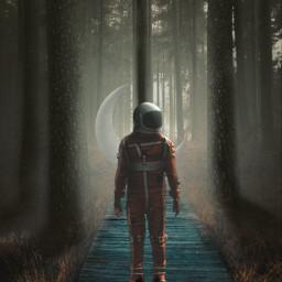 surreal spaceart astronaut surrealism madewithpicsart photomanipulation heypicsart freetoedit