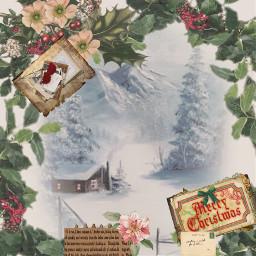 chrismas old snow merrychristmas freetoedit