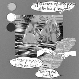 gray noise killingstalking killingmesoftly blackandwhite manga newspaper norwegianmoon freetoedit