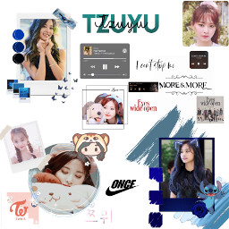 tzuyu twice once onceforever bias kpop jyp blue korea china taiwan navy choutzuyu freetoedit