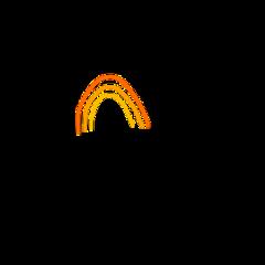 freetoedit rainbow orange orangeaesthetic rainbows lines yellow
