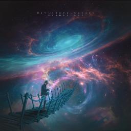 cosmic spaceart speedart surreal surrealism freetoedit