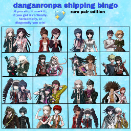 danganronpa danganronpaships animeships danganronpararepairs rarepairs shipbingo bingo danganronpabingo chiakinanami mikantsumiki freetoedit