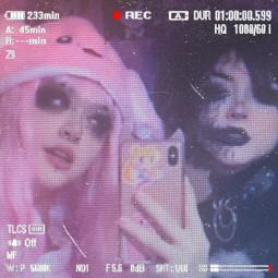 emo punk alt altgirl goth aesthetic draingang draincore sanriocore grunge pink pinkaesthetic freetoedit remix makeup sticker black blackaesthetic