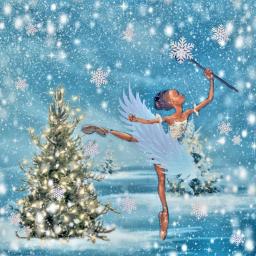 ballerina. snow queen princess freetoedit picsart ballerina ecneonwings neonwings