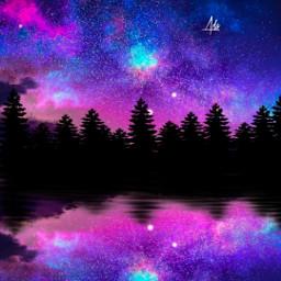 freetoedit sky bluesky night surreal