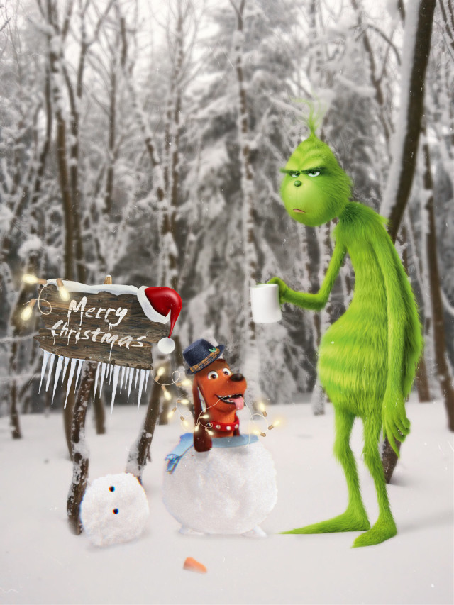 #grinch #christmas #snowman #snow #dog #magicbrush #merrychristmas #coolstickers #picsarteffects #background  #madewithpicsart #freetoedit #ftestickers
