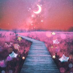 myedit myart galaxy sky moon freetoedit