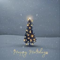 happyholidays myedit merrychristmas tree snow december picsarteffects freetoedit