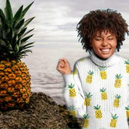 pineapple🍍 freetoedit pineapple ircdesignyourdreamholidaysweater designyourdreamholidaysweater