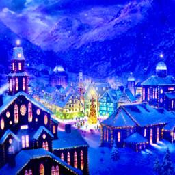 freetoedit winter christmas christmaslights christmastree cold night cool