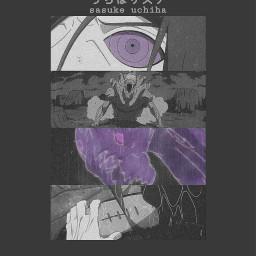 sasuke sasukeuchiha anime manga purple freetoedit
