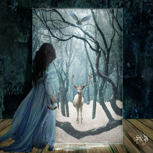 #winterwonderland , #snow, #snowscape, #nature, #winter, #portal, #photoremix, #fxeffects, #silverbells