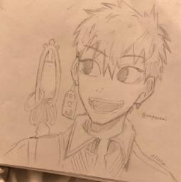 anime drawing doodle art traditionalart animeart sketch kouminamoto minamotokou toiletboundhanakokun toiletbound kou tbhk