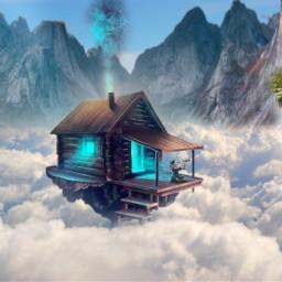 freetoedit clouds imagination fantasyart magic ecintheclouds
