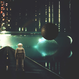 madewithpicsart scifi astronaut plant surreal
