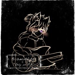 gachaclub gacha black lineart line art digitalart oc gachacluboc gachaoc boy gachaboy gachaclubboy request gachaedit animeboy anime