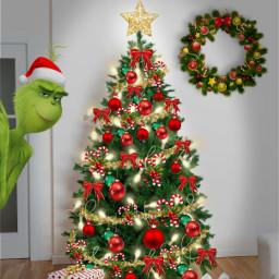 christmastree grinch freetoedit ircdecorateyourdreamtree decorateyourdreamtree