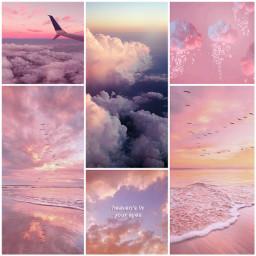 aesthetic pink vibes pastel sky freetoedit