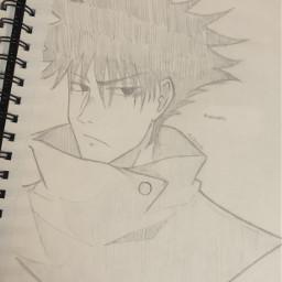 anime drawing doodle art traditionalart animeart sketch jujutsukaisen megumifushiguro fushiguromegumi megushi fushiguro jjk