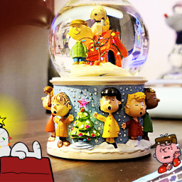 snoopy snowglobe charliebrownchristmas freetoedit