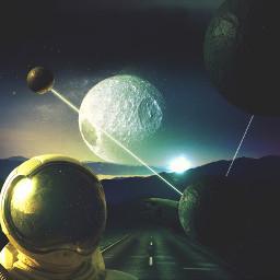madewithpicsart astronaut fantasy surreal scifi