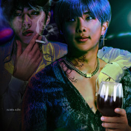 btsnamjoon btsjin bts btsedit kpop kpopedit dark aesthetic namjoon jin namjoonedit jinedit freetoedit