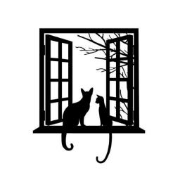 window windows jendela kucing kucinghitam cat freetoedit