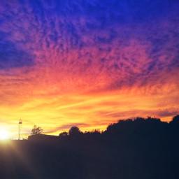 sunset sunrise background picsart photography saturated freetoedit