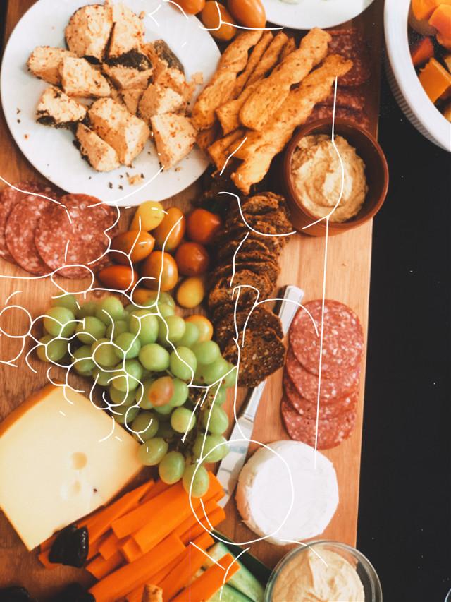 #platter#meats#fruits#yummy#yum#voteme!