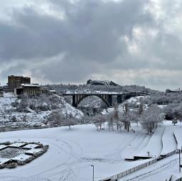 freetoedit snow yerevan winter sky