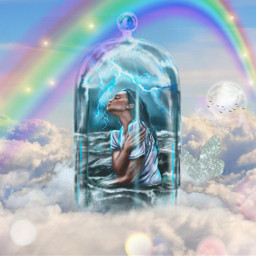 paradise cloud sky picsartedit picsart gold rainbow stormy freetoedit ecintheclouds intheclouds