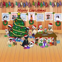 christmas christmastree christmaswreath christmasstockings gingerbreadcookies candycanes christmascookies santahats dogs cats bird mystickers myartwork colorpaint drawtools mydigitalart merrychristmas digitalart freetoedit