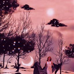 edit surreal clouds stars moon magical fantasy stayathome freetoedit