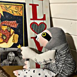 sloth petsandanimals love text toy mymom mydad pic blackandwhite imissyoumom iloveyoumom