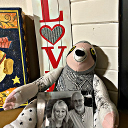 love text sloth petsandanimals toy mymom mydad blackandwhite pic