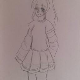 edit anime cute adorable chibi gacha drawing sketch