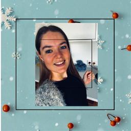 wishedforawhitechristmas wish white christmas snowflakes photo smile freetoedit
