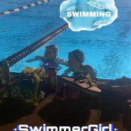 swimming interesting freetoedit