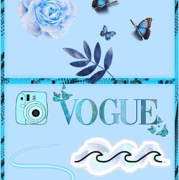 blue asthetic wallpaper freetoedit