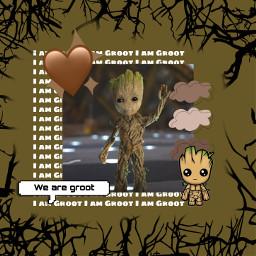 freetoedit groot gaurdiansofthegalaxy gotg avengersinfinitywar vindiesel avengersendgame brownaesthetic tree brown aesthetic