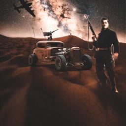 freetoedit desert car man soldier