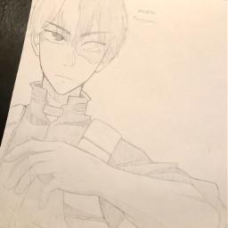 anime drawing doodle art traditionalart animeart sketch todoroki todorokishoto todorokishouto shoto shototodoroki shoutotodoroki mha myheroacademia bnha bokunoheroacademia