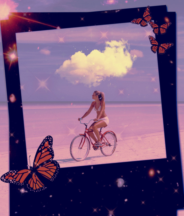 #replay #aesthetic #trendy #surreal #frame #sea #girl #butterflys