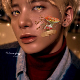 freetoedit kpop aesthetic txt flower taehyun mushroom
