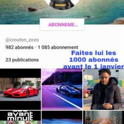 mardi 1000 abonnés avant 1 janvier @crouton_zozo @bastien_grancher janvier